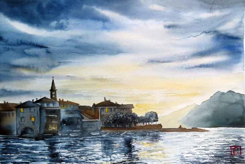 Lorenza Pasquali | Acquarellista Pittrice ad Acquerello. Artista di Milano. Quadri Personalizzati | Immagine opera Isola dei Pescatori